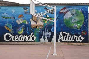 Mural de 50 aniversario del instituto Castilla - fotos