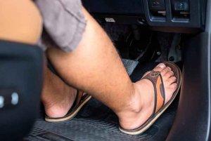Tres de cada diez conductores van mal calzados