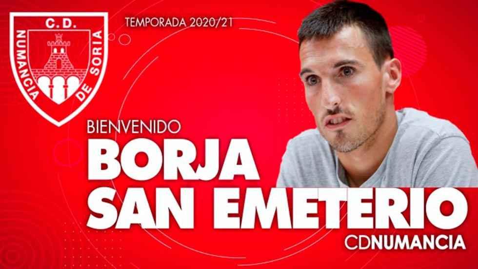 Borja San Emeterio, octavo fichaje del Numancia
