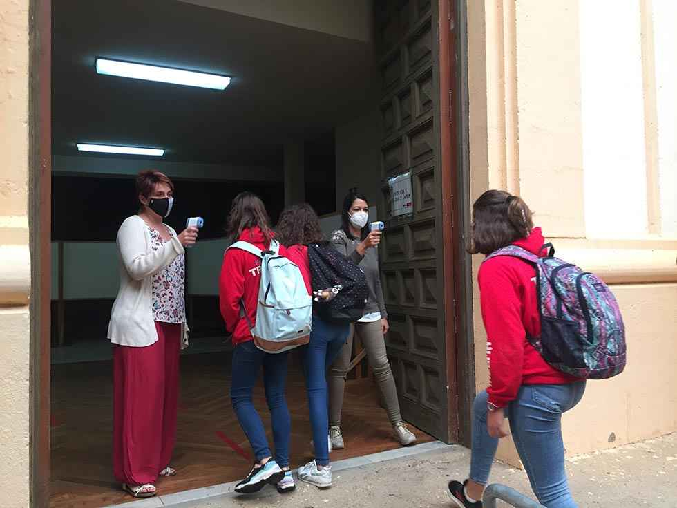 Dos aulas del Colegio Trllema, en cuarentena