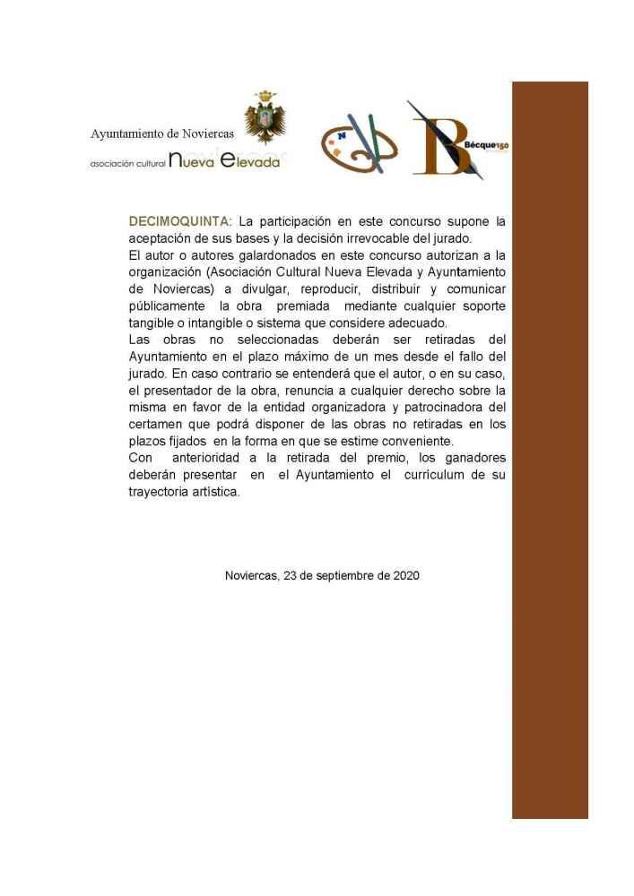 """Primer concurso """"Bécquer sigue en Noviercas"""""""