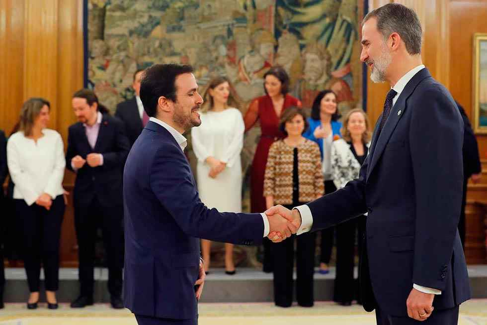 Garzón acusa al rey Felipe VI de maniobrar contra el Gobierno