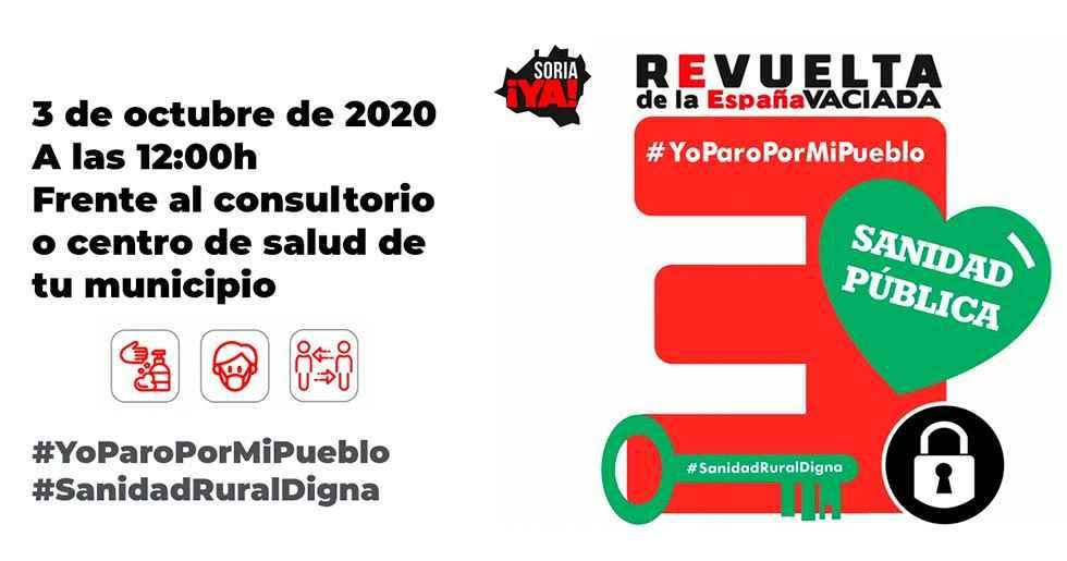 Soria ¡Ya! anima a participar en paro por sanidad rural