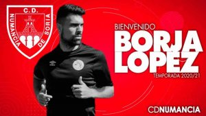 Borja López, segundo fichaje del Numancia