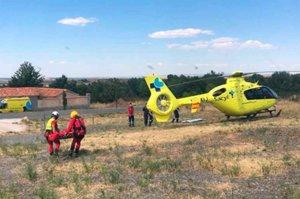 Rescatado un menor herido, tras caerse en cascada