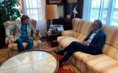 Israel presenta al alcalde el proyecto deportivo del Numancia