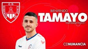 Tamayo, nuevo delantero para el Numancia