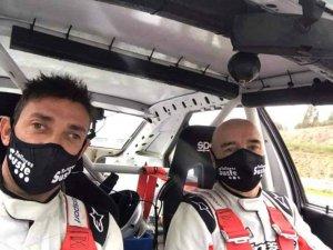Agustín Álvaro, segundo en Rally Terra de Agua
