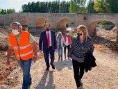 Las obras en puente de Langa descubren calzada medieval
