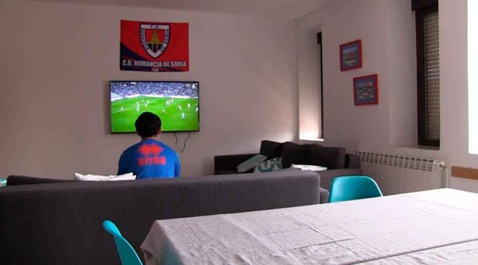La residencia numantina acoge a 19 futbolistas