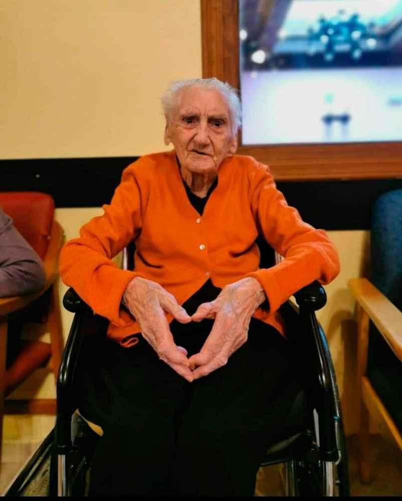 Teodora Rubio cumple 104 años en Covaleda