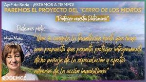 """Podemos pide proteger paisaje del """"Cerro de los Moros"""""""