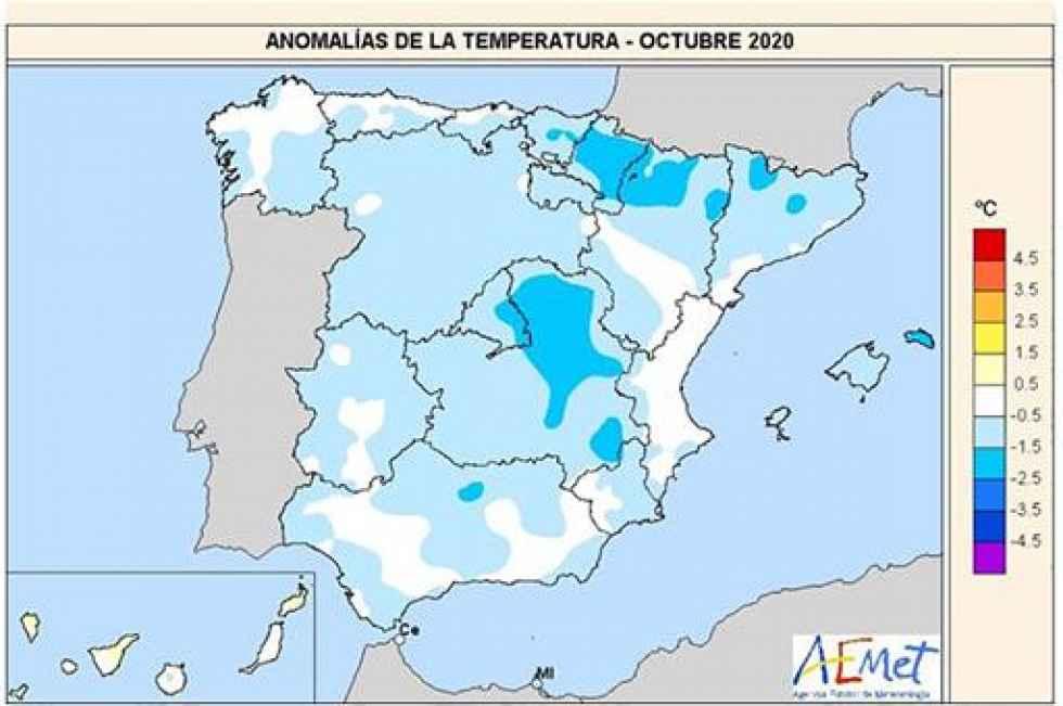 El primer octubre frío en los últimos diez años