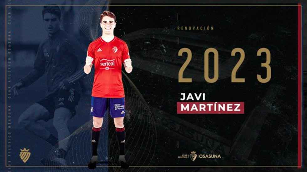 El Osasuna renueva a Javi Martínez