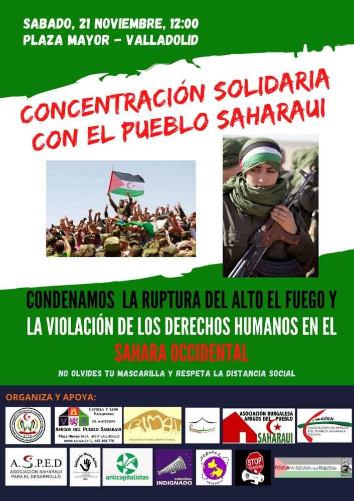 Concentración en solidaridad con el pueblo saharaui
