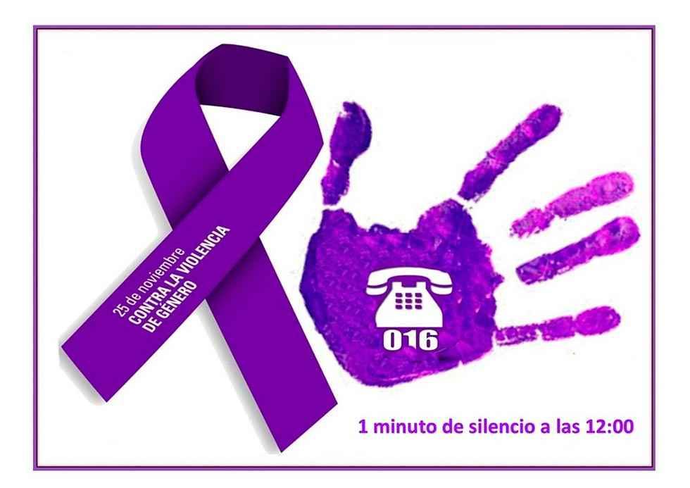 Minuto de silencio por las víctimas de violencia de género