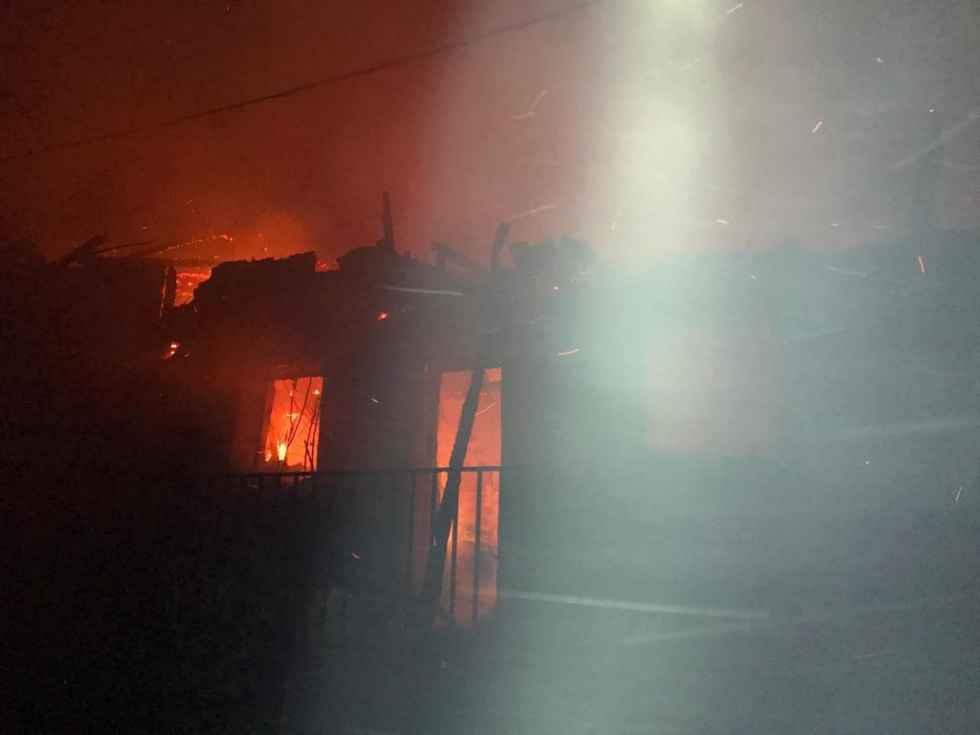 Incendio en tres viviendas de Herrera de Soria