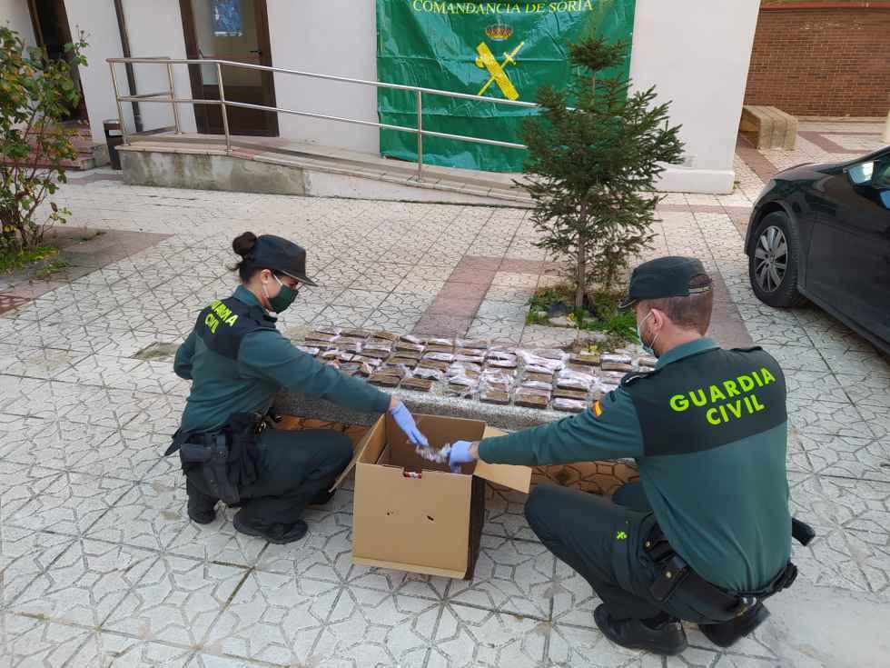 Detenido con 6,5 kilogramos de hachís