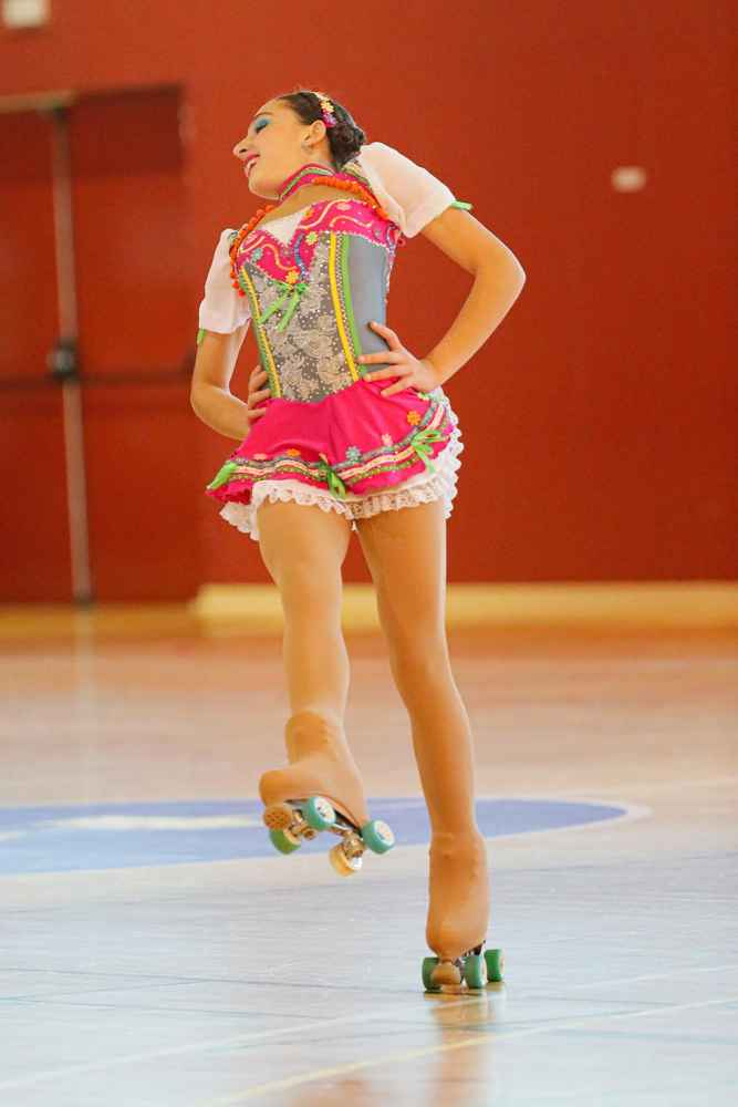 Angela Díez, campeona de España de patinaje artístico