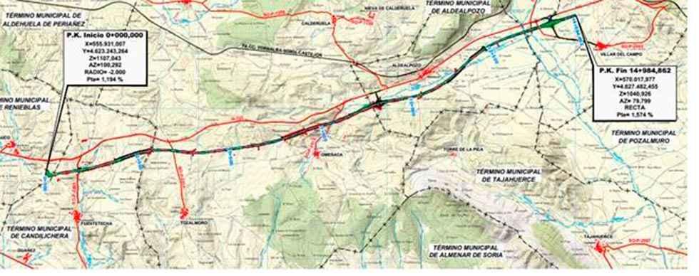 A-15: aprobado proyecto Fuensaúco-Villar del Campo