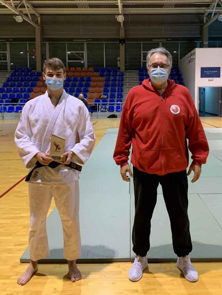 El judoka Álvaro Sanz, subcampeón de Castilla y León