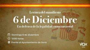 Vox convoca concentración en defensa de la Constitución