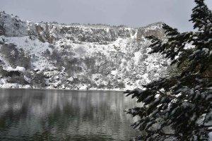 La Laguna Negra, tomada por la nieve
