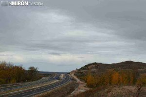 Corte de tramo de carretera en San Esteban de Gormaz