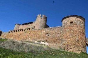 El castillo de Almenar de Soria, desde el aire