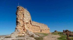 Castillo de San Esteban de Gormaz, desde el cielo