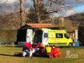 Rescatado un ciclista herido en camino de montaña