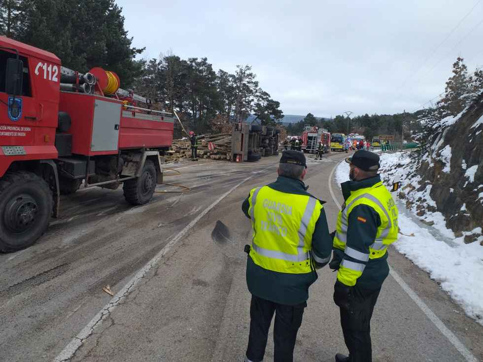 Dos víctimas mortales en accidente en Molinos de Duero