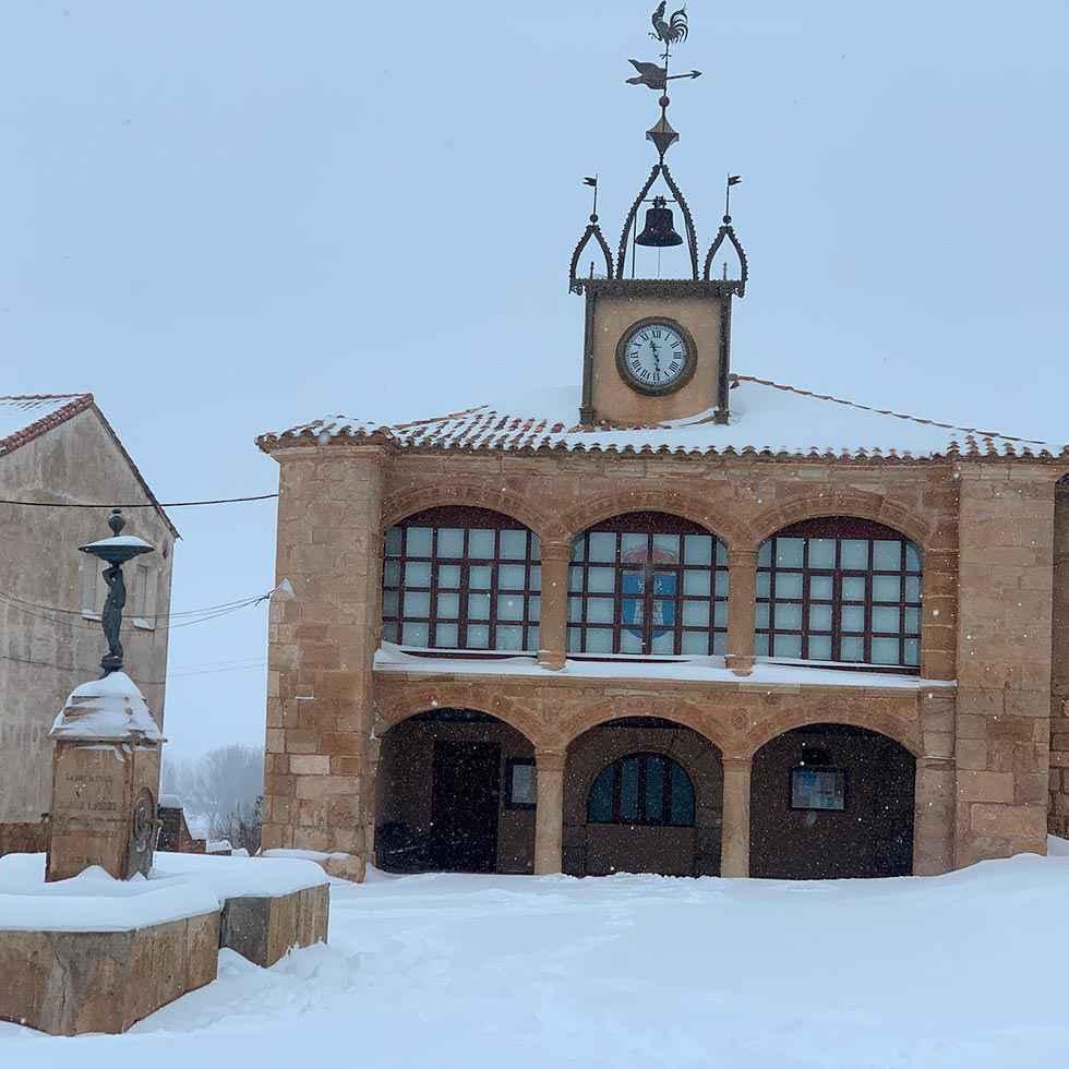 Morón de Almazán, 18 grados bajo cero