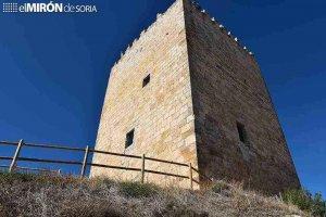 El castillo de Langa de Duero, desde el cielo