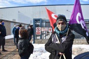 Protesta laboral en Plásticos ABC - fotos