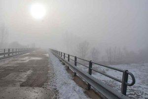 Niebla engelante en el campo de Gómara - fotos