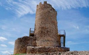 La atalaya de La Riba de Escalote, desde el cielo