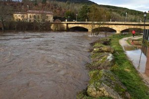 Molinos de Duero: crecida del río - fotos