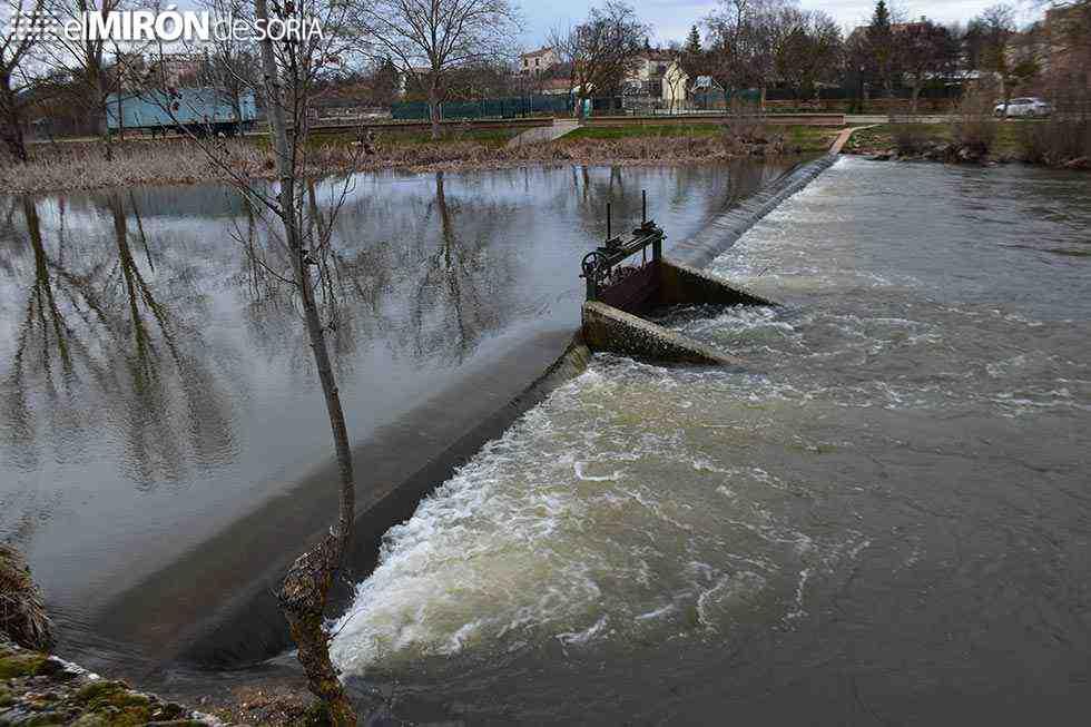 Muro de contención para evitar inundaciones en Soria Natural