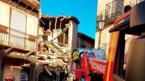 Derrumbe de una vivienda en Berlanga de Duero
