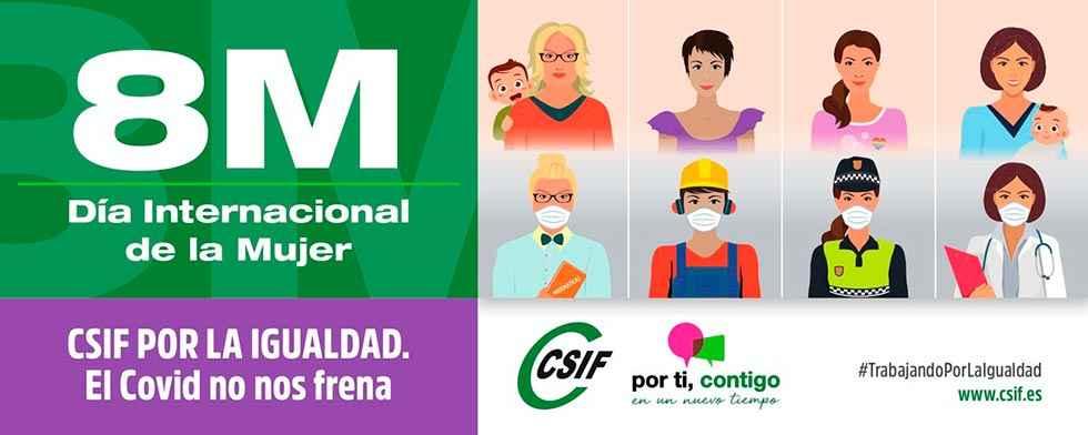 CSIF: concentraciones simbólicas para celebrar el 8-M