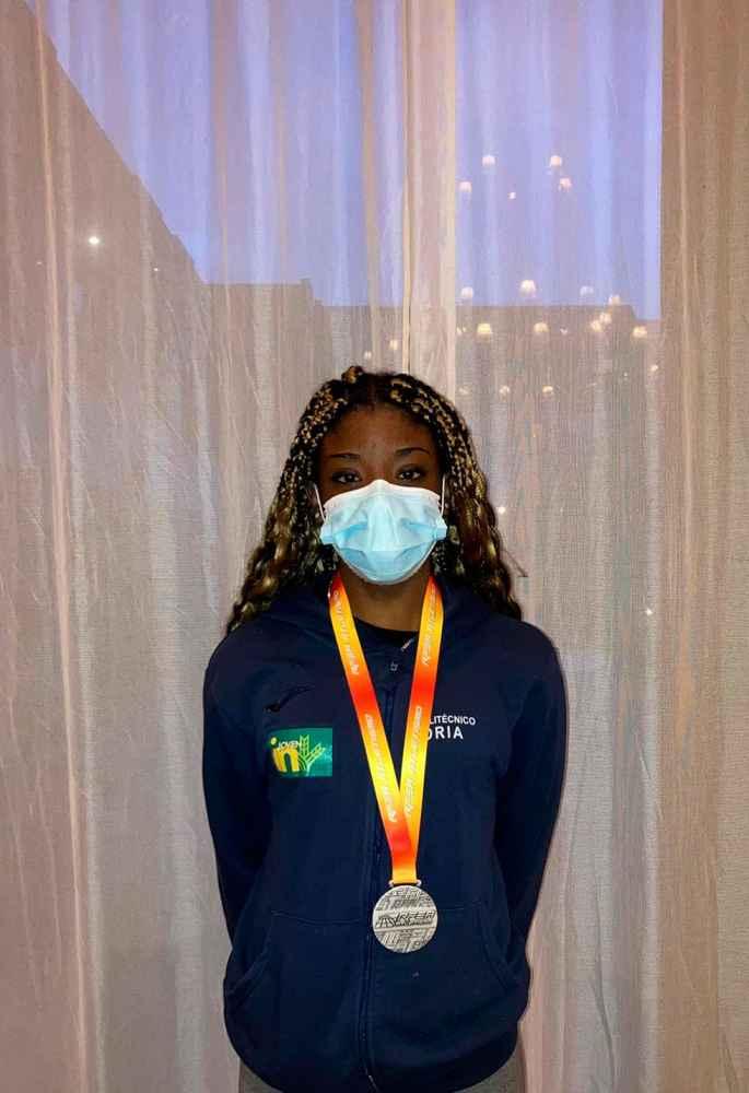 Ashley Abaga, plata en el Nacional sub-20