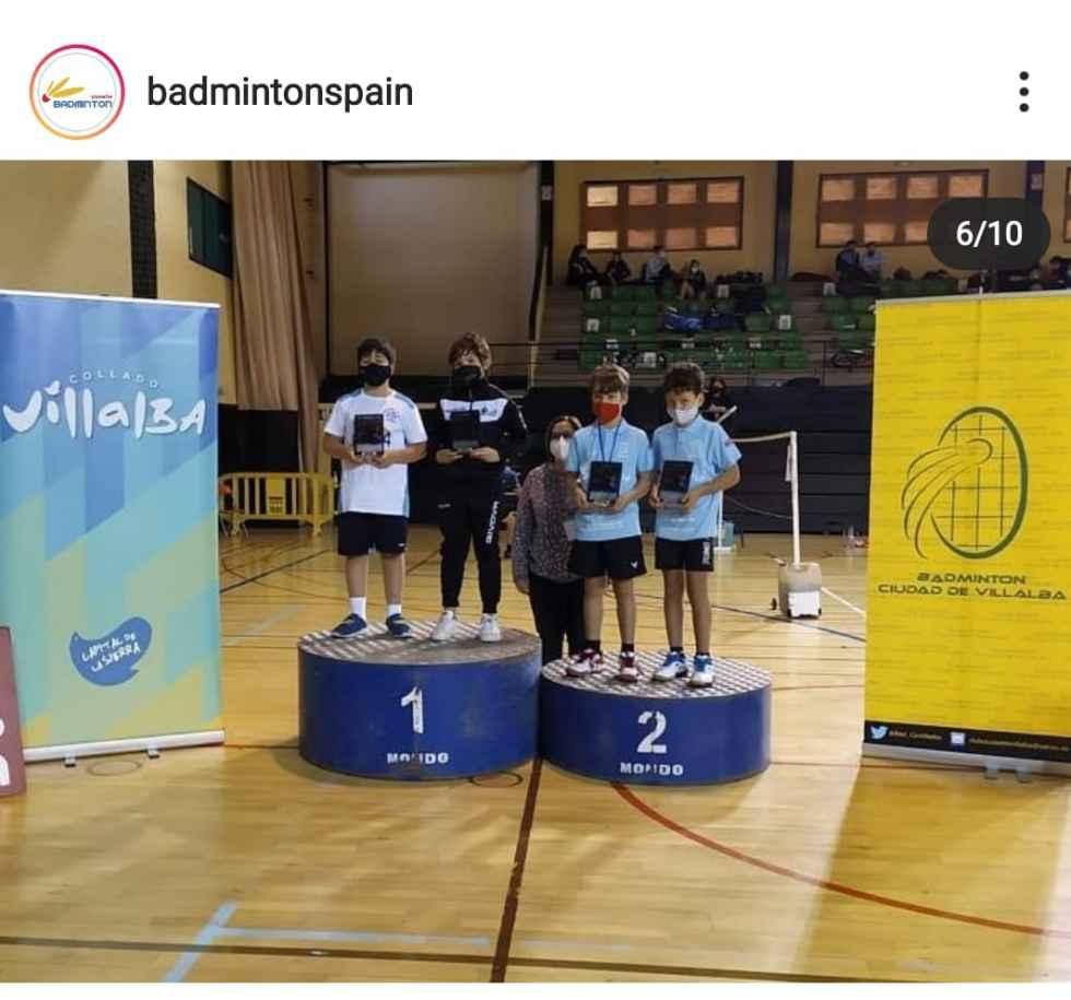 Oro y bronce para el Club Bádminton Soria