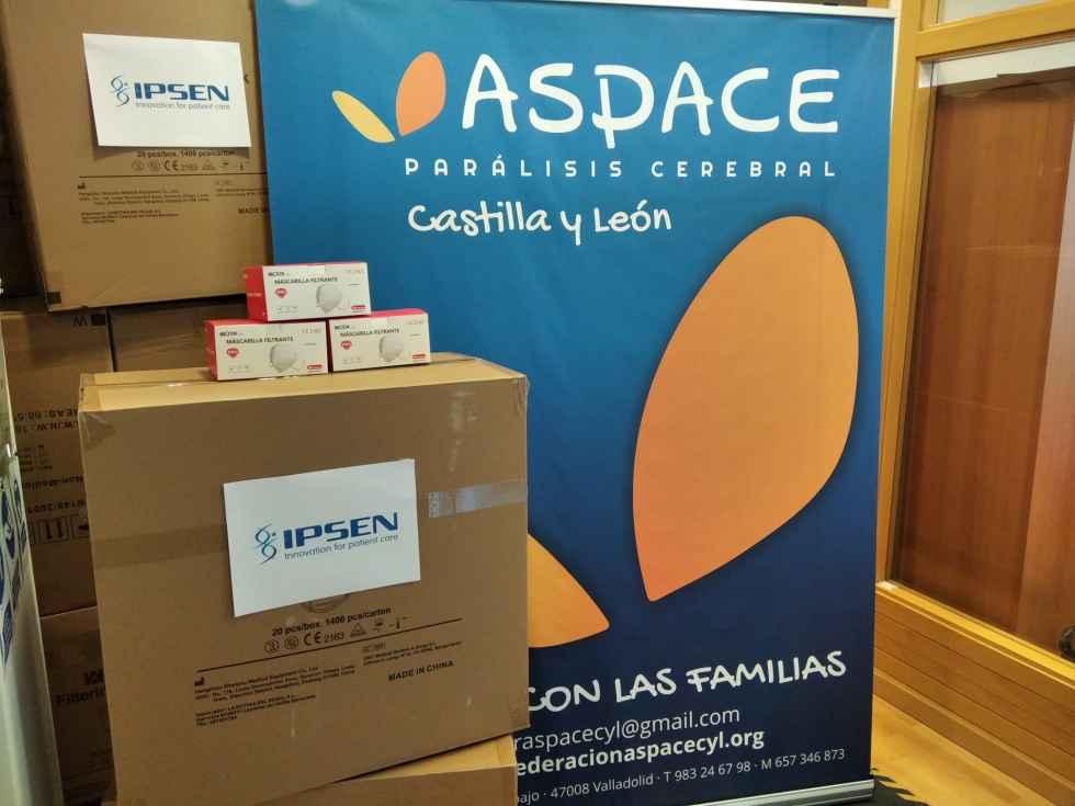 Donación a ASPACE para 30.000 mascarillas