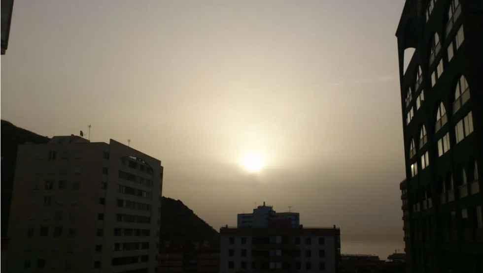 Aumento de particulas de polvo procedente de África