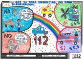 Más de 2.600 alumnos dibujan lo que es el 1-1-2