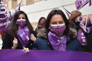 Concentración sindical en el Día de la Mujer - fotos