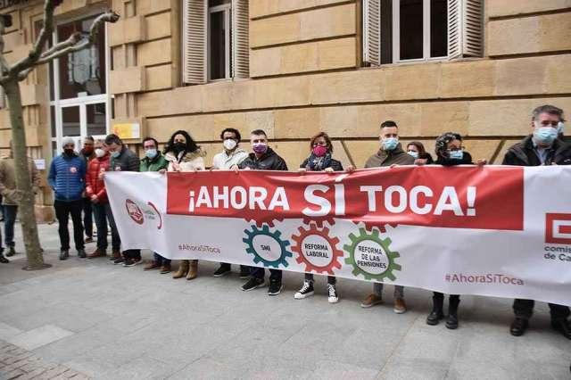 Concentración sindical por la agenda social - fotos