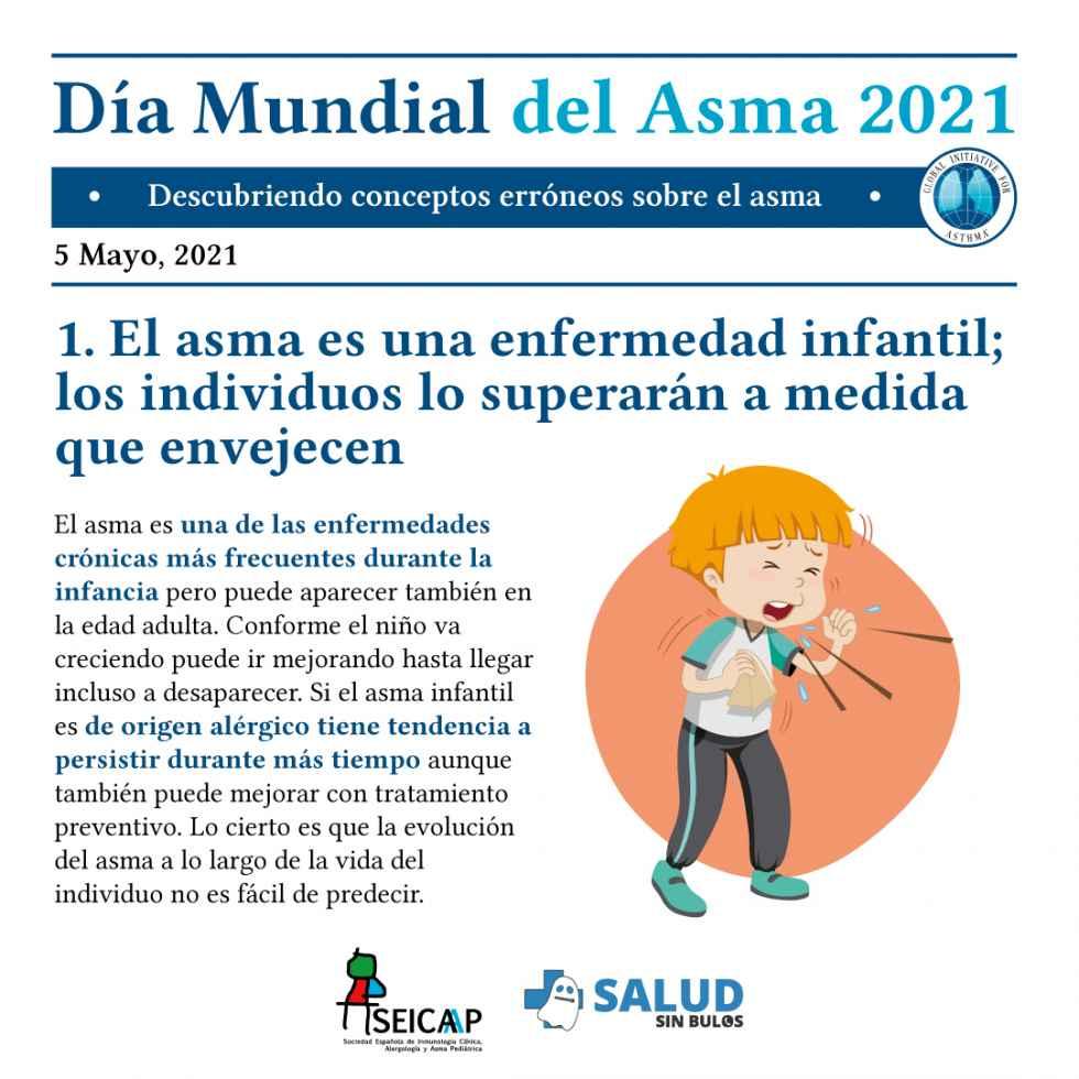 Las falsas creencias dificultan el control del asma en niños
