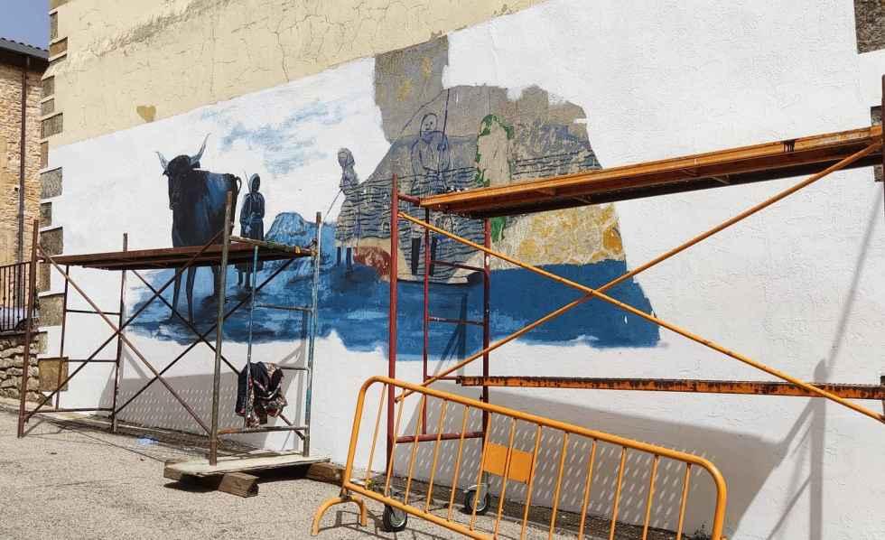 Las mujeres de Abejar, homenajeadas en un mural